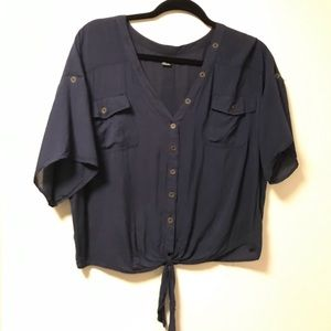 Forever 21 button detail blouse